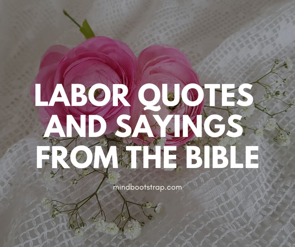 Stimulating & Encouraging Labor's Day Quotes and Sayings from the Bible