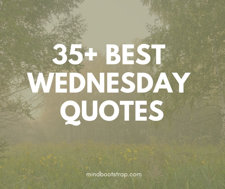35+ Best Wednesday Quotes & Sayings To Motivate You